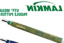 1 New LAMKIN UTx Mega Paddle Putter Grip - GREEN / YELLOW