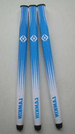 3- Lamkin Sink HD Paddle, Blue/White Putter Grips,  15 inch