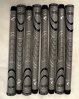 8 SuperStroke Cross Comfort Midsize Golf Grips - Gray/Black