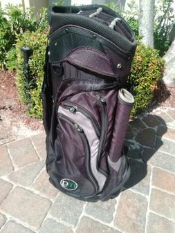 MG Golf Black Silver Lightweight Cart Bag 14 Divider Putter