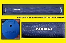 Lamkin Blue UTX Cord Mega Paddle Putter Grip - New - 116g -