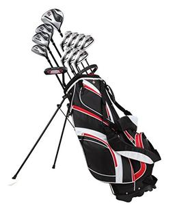 18 Piece Men's Complete Golf Club Package Set With Titanium