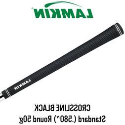 Lamkin Crossline Black Golf Grips, Standard