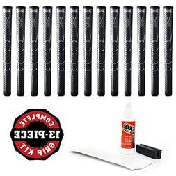 Winn Dri-Tac Oversize +18-Inch Grip Kit , Dark Gray