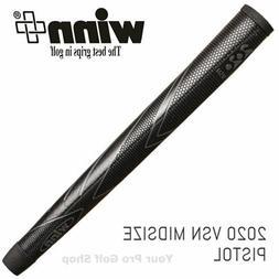 Winn Excel 2020 VSN Black Midsize Pistol Putter Grip 68WV-BK
