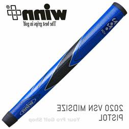 Winn Excel 2020 VSN Blue/Black Midsize Pistol Putter Grip 68