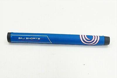 new golf stroke lab black blue putter