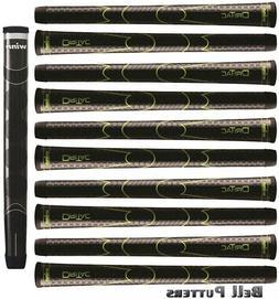 Winn Oversize Black Golf Grips Combo-Ten  Dri-Tac Swing+One