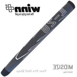 Ping Gray / White Winn AVS Midsize Pistol Putter Grip
