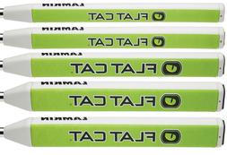 """FLAT CAT Putter Grips - All sizes - Green/White - .580"""" Core"""