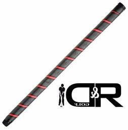 "Karma QTY 2 grips Black/Red long 19"" Putter grip /belly putt"