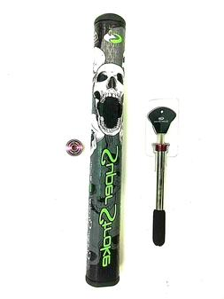 Super Stroke Skull Mid Slim Putter Grip Black / Green  3.0 C