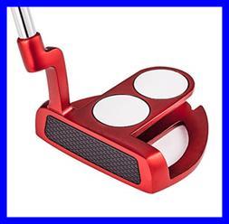 """MAZEL Tour GS3 Men's Golf Putter 34"""" RED 2 Ball Blue Grip"""