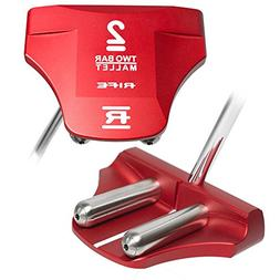 RIFE Two Bar Red Mallet Putter 2018 Right Center Shaft 34