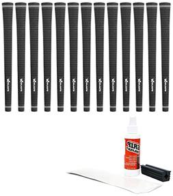 Karma Velour Midsize Black  - 13Piece Golf Grip Kit